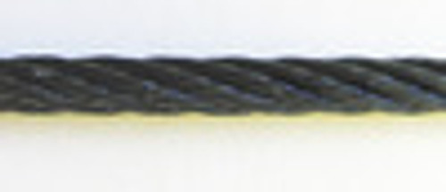 """Black Powder Coated Galvanized Cable 3/16"""", 7x19, 500 ft reel"""