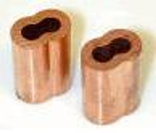 """Copper Swage Sleeve for Wire Rope 1/16"""", 100 pieces"""