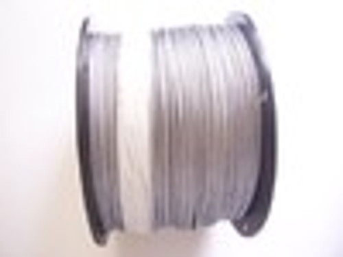"Galvanized Cable  1/8"", 7x7, 1000 ft Reel (Free Shipping)"