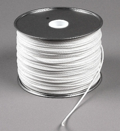"Diamond Braid Low Stretch Polyester Cord, 1/8"", 1000 ft reel"