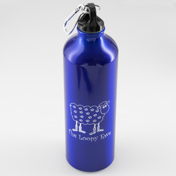 Blue Loopy Aluminum Bottle at  The Loopy Ewe