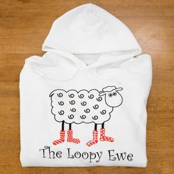 White Loopy Sweatshirt - 2X at  The Loopy Ewe