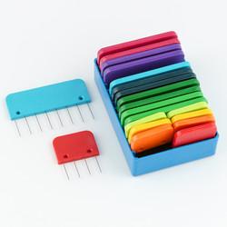 Rainbow Knit Blockers at  The Loopy Ewe