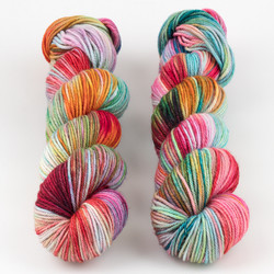 Monthly Exclusive Colorway // Spring Swirl - City at  The Loopy Ewe