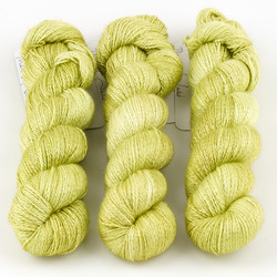 JulieSpins, Cashmere Silk Lace // Pear Green at  The Loopy Ewe