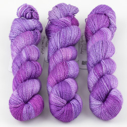 JulieSpins, Cashmere Silk Lace // African Violet at  The Loopy Ewe
