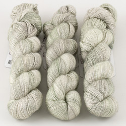 JulieSpins, Cashmere Silk Lace // Frosted Sage at  The Loopy Ewe