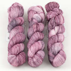 JulieSpins, Cashmere Silk Lace // Smoky Primrose at  The Loopy Ewe