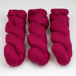 Cascade, Heritage Sock - Solids // 5616 Fuchsia at  The Loopy Ewe
