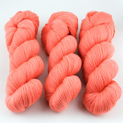 Cascade, Heritage Sock - Solids // 5750 Living Coral at  The Loopy Ewe