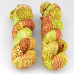 JulieSpins, Silky 435 // Striped Peppers at  The Loopy Ewe
