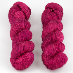 JulieSpins, Silky 435 // Joyful Red at  The Loopy Ewe