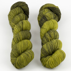 Dream in Color, Smooshy with Cashmere // Scorched Lime at  The Loopy Ewe