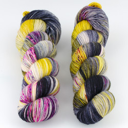 Dream in Color, Smooshy with Cashmere // Uptown Electric at  The Loopy Ewe