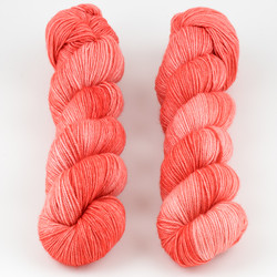 Dream in Color, Smooshy with Cashmere // Melon Bomb B at  The Loopy Ewe