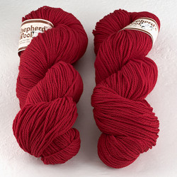Stonehedge Fiber Mill, Shepherd's Wool Worsted // Christmas Red at  The Loopy Ewe