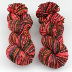 Fibernymph Dye Works, Self Striping // A Little Bit Wicked at  The Loopy Ewe