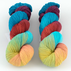 Into the Whirled, Pakokku Handpainted // Double Rainbow at  The Loopy Ewe