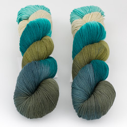 Into the Whirled, Pakokku Handpainted // Fathom at  The Loopy Ewe