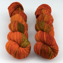 Hedgehog Fibres, Sock Yarn // Copper Penny