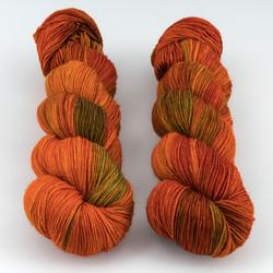 Hedgehog Fibres, Sock Yarn // Copper Penny at  The Loopy Ewe