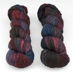 Hedgehog Fibres, Sock Yarn // Malice at  The Loopy Ewe
