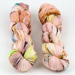 Hedgehog Fibres, Sock Yarn // Bloom at  The Loopy Ewe
