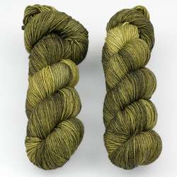 JulieSpins, Euro Sock // Olive Underground at  The Loopy Ewe