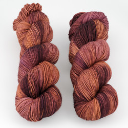 JulieSpins, Euro Sock // Blood Orange at  The Loopy Ewe