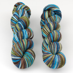 Western Sky Knits, Aspen Sock with Nylon // Brooks at  The Loopy Ewe
