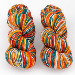 Tumbleweed Yarn, Aurora Self-Striping // A Work of Art at  The Loopy Ewe