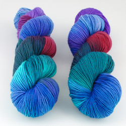 Blue Moon Fiber Arts, Monthly Exclusive Colorway // Midnight Mystery - Mediumweight at  The Loopy Ewe
