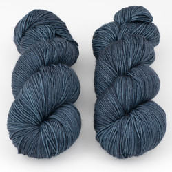 Magpie Fibers, Swanky Sock // In The Navy at  The Loopy Ewe