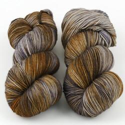 Magpie Fibers, Swanky Sock // Woodsmoke