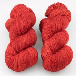 Gherkin's Bucket, Long Stride Sock // Red Out Loud at  The Loopy Ewe