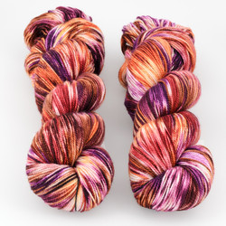Into the Whirled, Resist Dyed - Meridian Sock // Ramble at  The Loopy Ewe