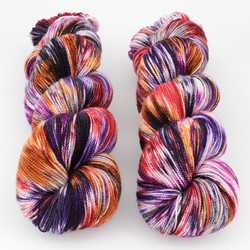 Into the Whirled, Resist Dyed - Meridian Sock // Il Tramonto at  The Loopy Ewe