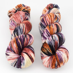 Into the Whirled, Resist Dyed - Meridian Sock // Heirloom Ornamental at  The Loopy Ewe