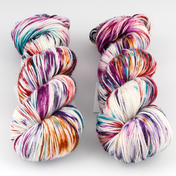 Into the Whirled, Resist Dyed - Meridian Sock // Hijinks at  The Loopy Ewe
