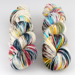 Into the Whirled, Resist Dyed - Meridian Sock // Captain Tightpants at  The Loopy Ewe