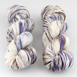Into the Whirled, Resist Dyed - Meridian Sock // Horse with No Name B at  The Loopy Ewe