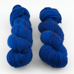 The Uncommon Thread, Lush Worsted // Azurite B at  The Loopy Ewe
