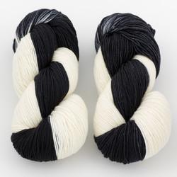 Ancient Arts Fibre Crafts, Heavy Fingering Yarn // Tuxedo Cat at  The Loopy Ewe