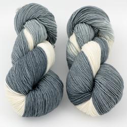 Ancient Arts Fibre Crafts, Heavy Fingering Yarn // Grey Tuxedo Cat at  The Loopy Ewe