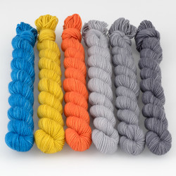 Canon Hand Dyes, Charles Merino Kits // Fall in the City at  The Loopy Ewe