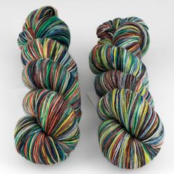 Ethereal Fibers, Nebula Sock // Douche De Leche at  The Loopy Ewe