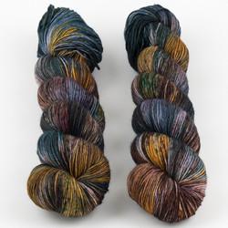 Uschitita Fibre Art, Merino Sock // Vintage Rug at  The Loopy Ewe