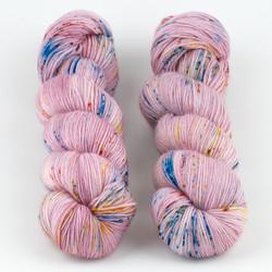 Qing Fibre, Super Soft Sock // Berry Milkshake at  The Loopy Ewe