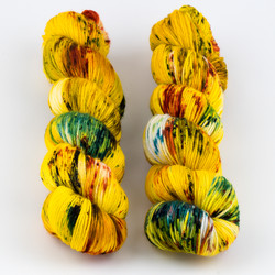 Qing Fibre, Super Soft Sock // Ember at  The Loopy Ewe