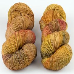 JulieSpins, Euro Fingering 820 // Golden Oak at  The Loopy Ewe